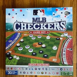MLB CHECKERS GANE SET NWT
